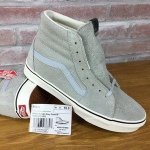 Vans Sk8 Hi Hairy Suede Skate-Shoes Men's 10 Gray